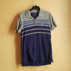 Banana Republic purple and gray men's polo